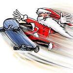 Le père Noël skateur