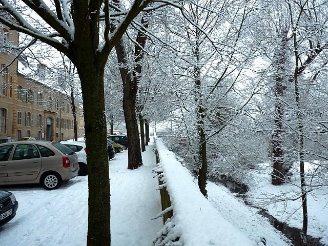 Metz sous la neige 15 Marc de Metz 16 02 2013