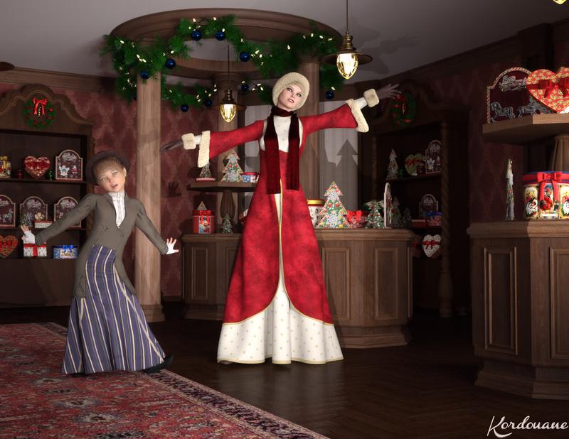 Fond d'écran : La joie de Noël d'antan