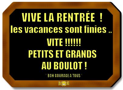 """* Vive la rentrée"""""""