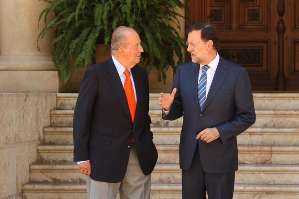 Juan Carlos reçoit