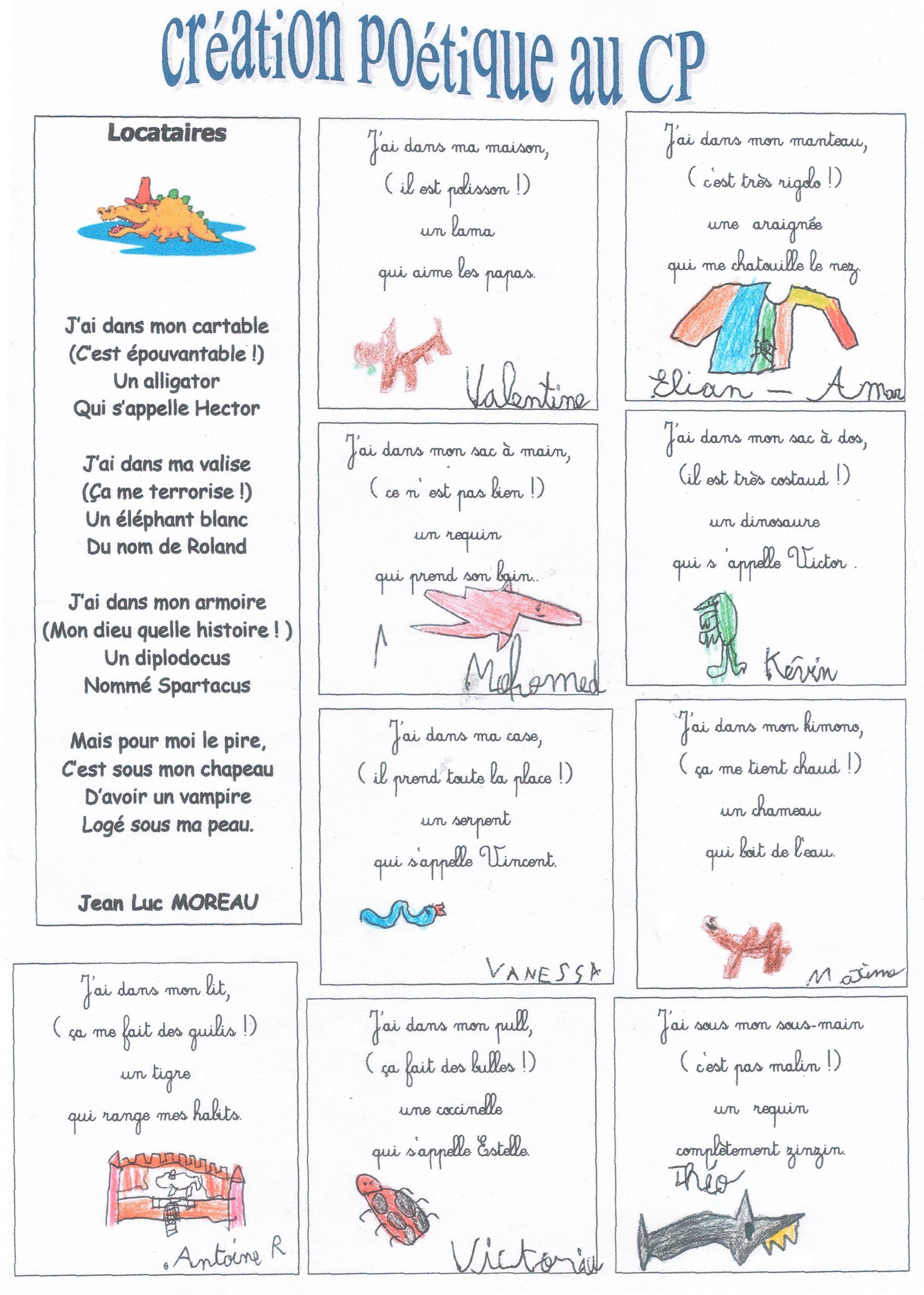 bb9ace2c4d3 Création poétique CP et CE1 - Véro à l école