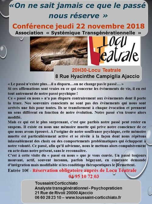 22 Novembre 2018 - Conférence Toussaint Corticchiato