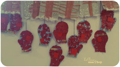 Jolies moufles rouges :)
