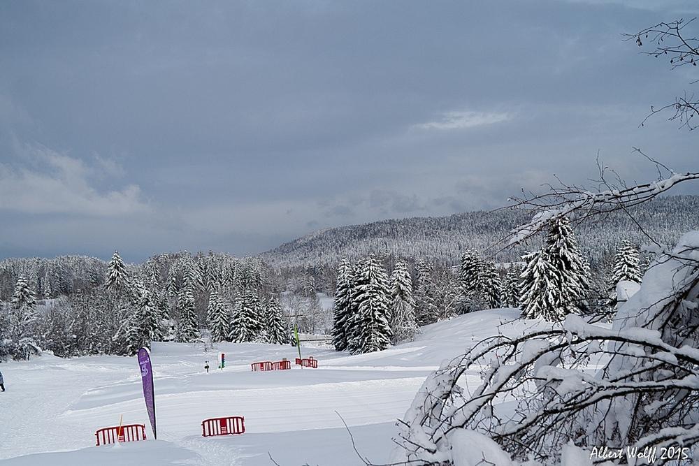 La  neige, c'est aussi  de la couleur...