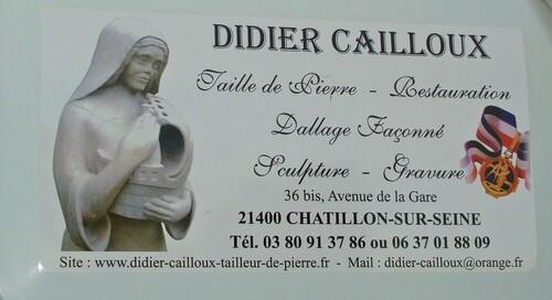 Didier Cailloux,tailleur de pierre,sculpteur,graveur