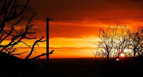 Ce matin, le soleil s'est levé à l'Est
