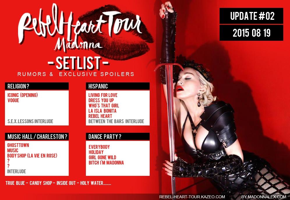 Madonna Rebel Heart Tour Setlist U2