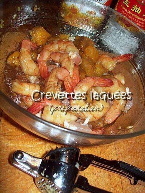 Vietnam : Brochettes de crevettes laquées