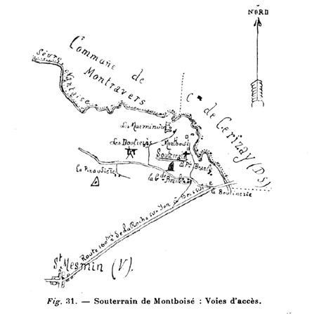 Saint-Mesmin, le souterrain-refuge de Montboisé....