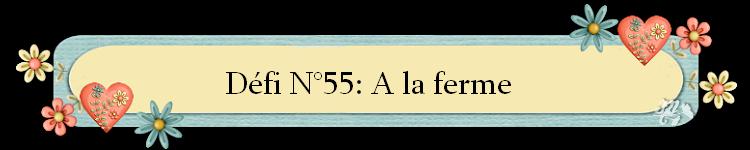 Défi 56:A la ferme