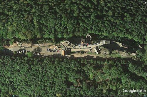 La légende des souterrains du Haut-Barr, petite présentation sur le site de Mr Yves Herbo. (Photo / Google Earth)