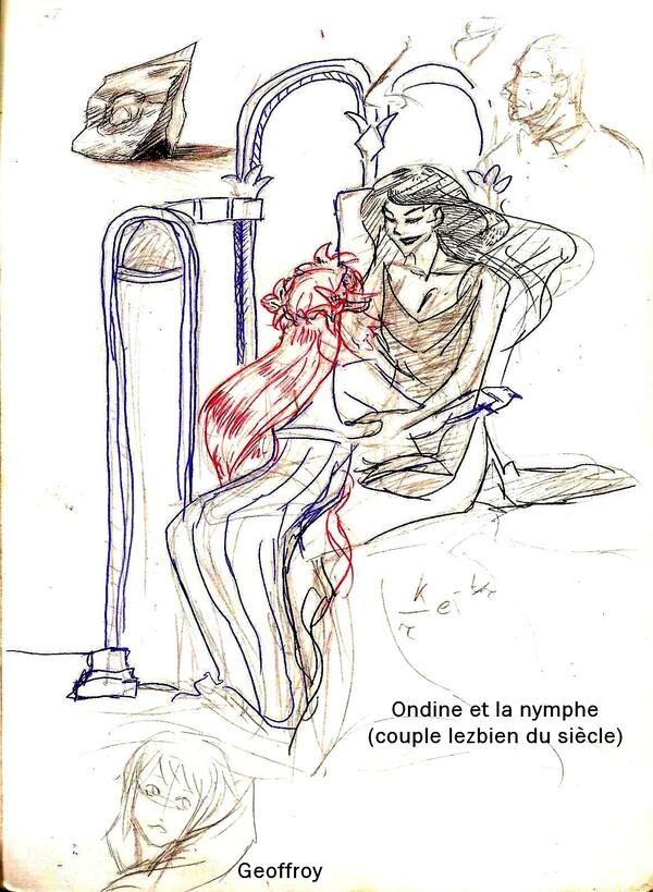 études ondine et Nymphe Geoffroy