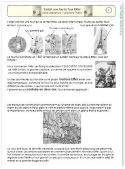 Littérature CE1: Il était une fois la Tour Eiffel