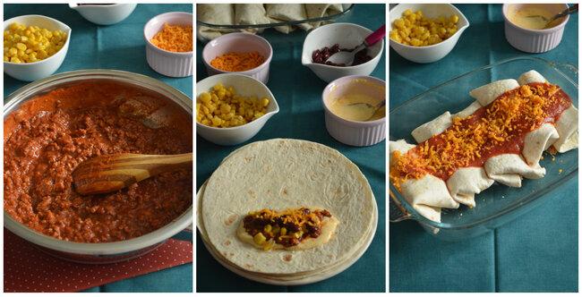 Burritos { Boeuf & Sauce Cheddar }