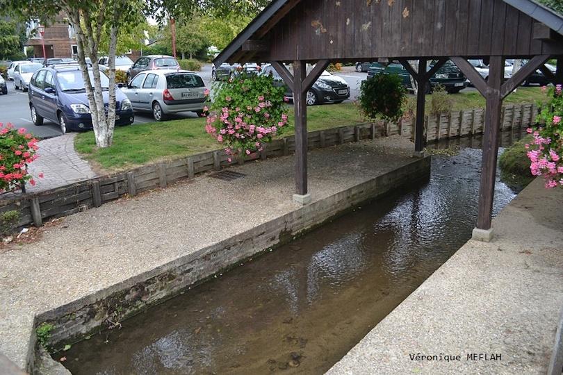Calvados : été 2018 : Ville de Touques : Un lavoir