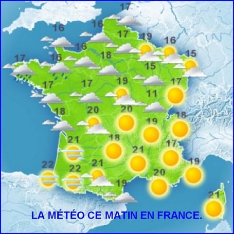 La météo du jour en France