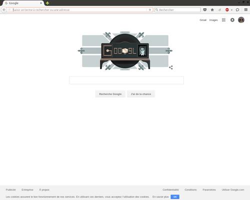 La page fleurdelysée de la page du jour de Google