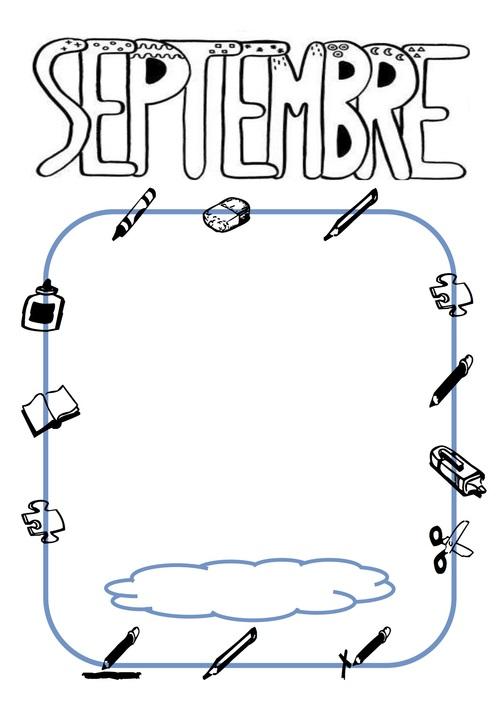 Septembre dessin du bonhomme