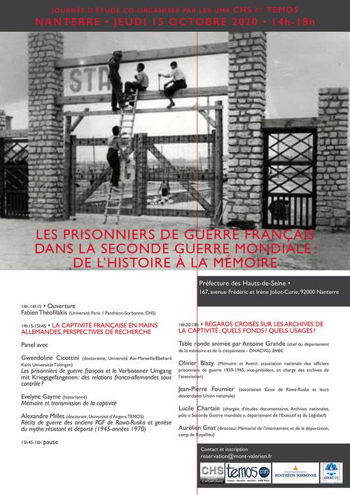 Les prisonniers de guerre français dans la Seconde Guerre mondiale : de l'histoire à la mémoire