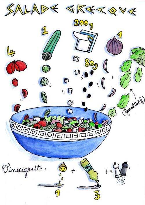 Salade grecque !