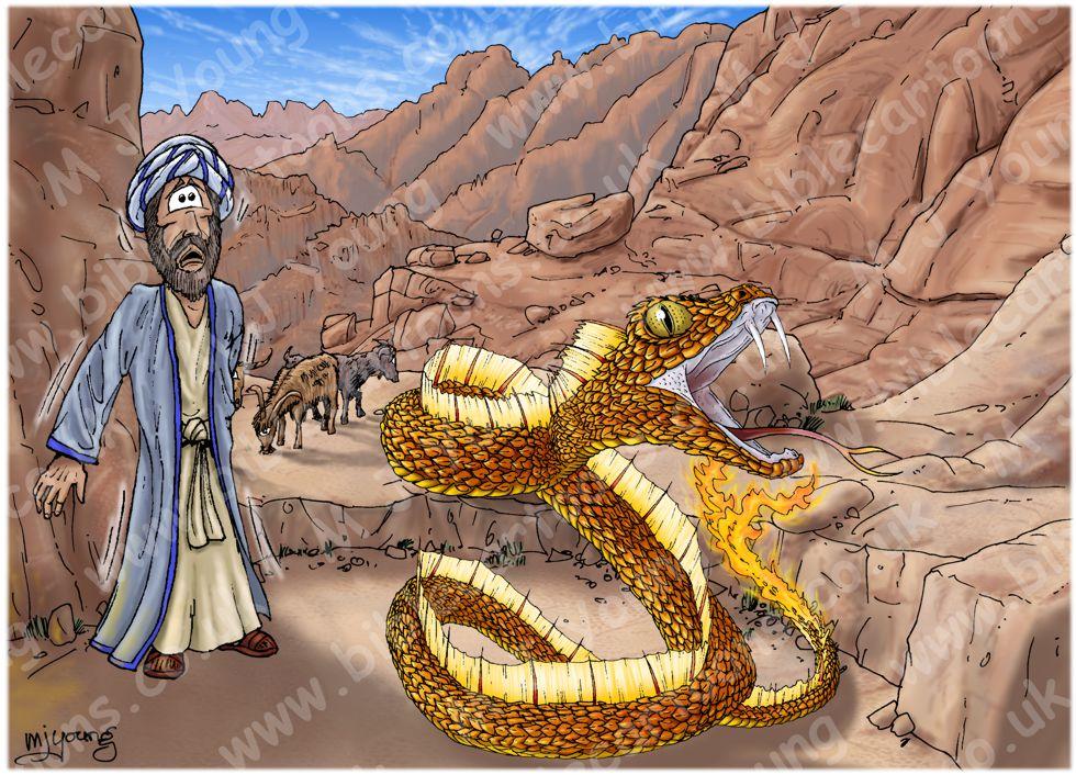 Exodus 04 - Burning Bush - Scene 05 - Snake staff (Small version)