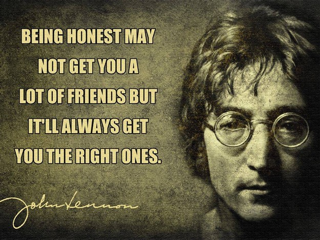 Being honest may not get you a lot of friends