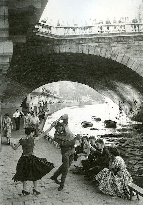 french-sixties:  Rock and Roll sur les Quais, Paris, 1952 (Paul Almasy)