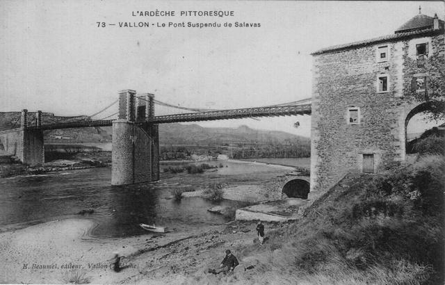 Pont suspendu de Salavas