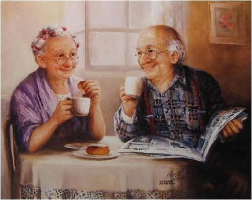 la vie est belle même dans la vieillesse ....
