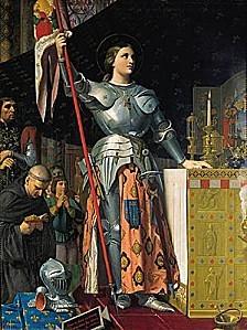1005104-Ingres Jeanne dArc lors du sacre de Charles VII dan