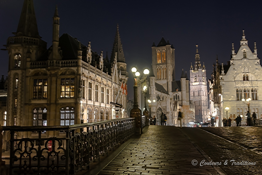 Quartier du pont St Michel de Gand