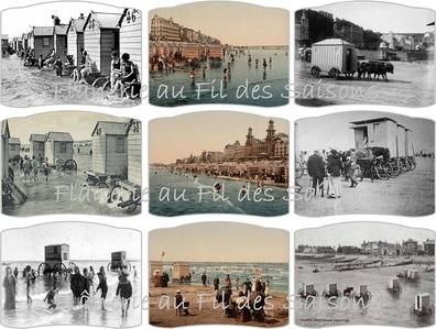 Cartonnettes Cabines de plage (1) !