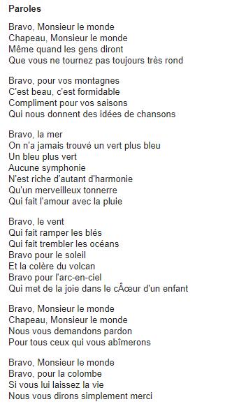 Bravo Monsieur le Monde