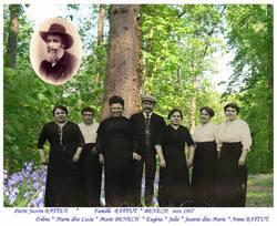 Famille BATTUT  *  BENECH * vers 1907