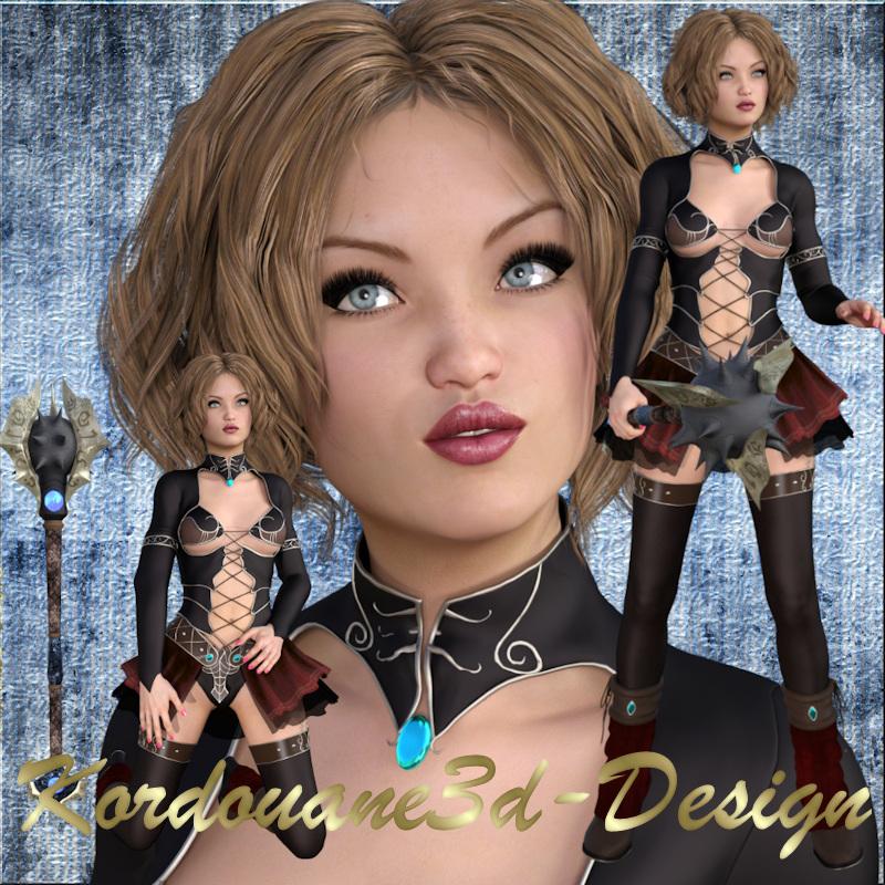 Typhanie : 3 tubes de femme guerrière fantasy (image-png)