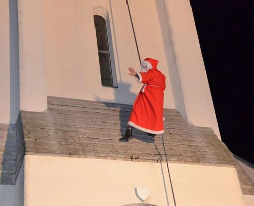 La descente du Père Noël