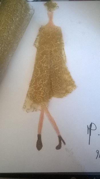 N°61 : dessin avec tissu