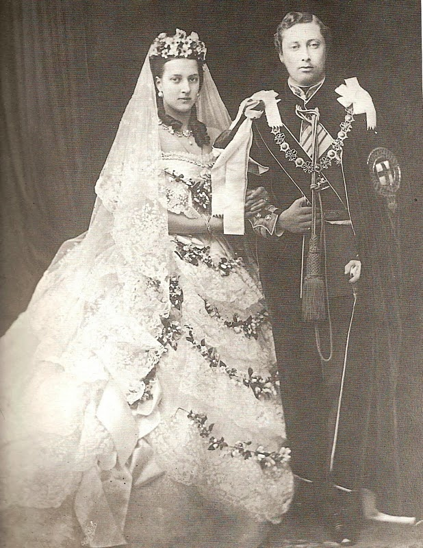 Victoria and Albert on their wedding day. Victoria bragged about their active sex life (after the wedding) and had about a hundred babies to prove it.: