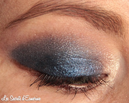 makeup, maquillage, bleu, nuit, marron, kiko
