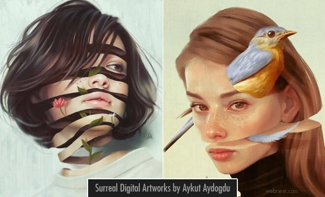 15 Beautiful Surreal Digital Artworks by Aykut Aydogdu