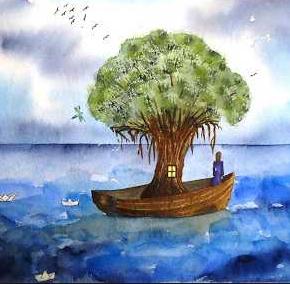 L'arbre et la pirogue ...