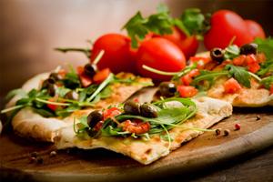 Faites le choix original d'une pizza-salade