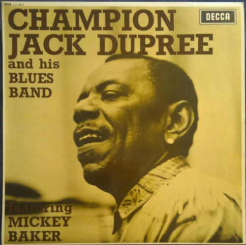"Champion Jack Dupree : Album "" Champion Jack Dupree And His Blues Band Featuring Mickey Baker "" LP Decca SKL 4871 [ UK ]"