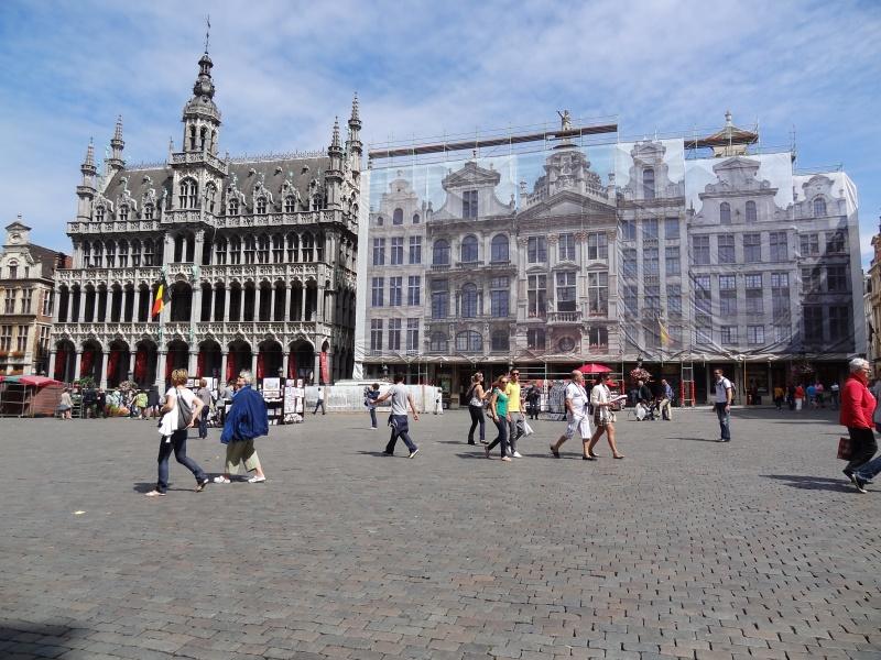 Grand-Place de Bruxelles, en rénovation...