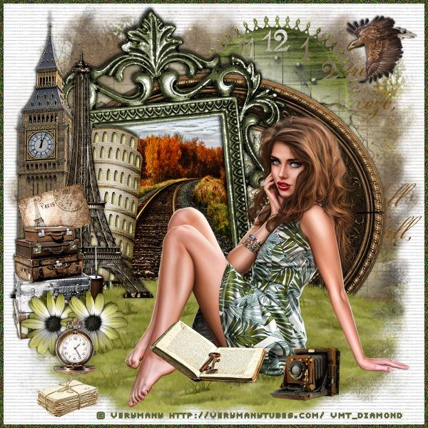 """Tutoriel """"Voyage entre filles"""" de Liligraph"""