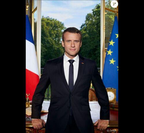Les symboles du pouvoir - Le portrait officiel du Président Macron