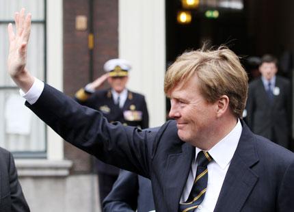 Willem Alexander et l'armée