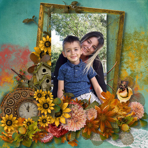 An Autumn Painting by dentelle scrap