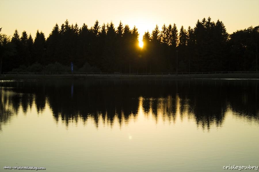 Reflets au crépuscule